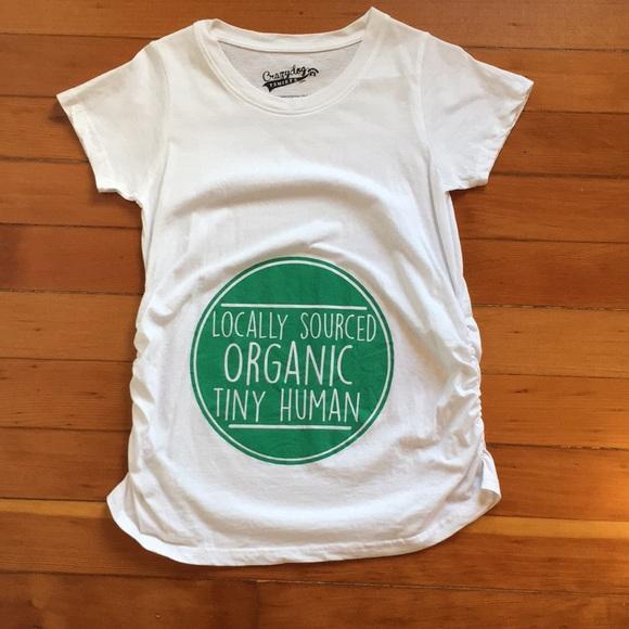 5607f6408827c Crazy Dog T-Shirts Tops | Maternity Tshirt Locally Sourced Tiny ...